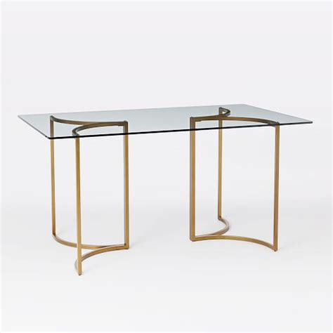 west elm glass desk carraway dining west elm