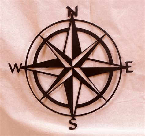 Compass Wall Decor by Large 20in Compass Metal Wall By Bcmetalcraft On Etsy