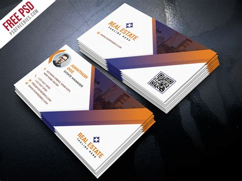 realtor business card templates free free psd real estate business card template psd free