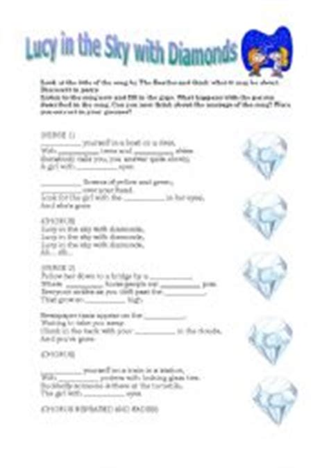 lucy film worksheet english teaching worksheets lucy in the sky with diamonds