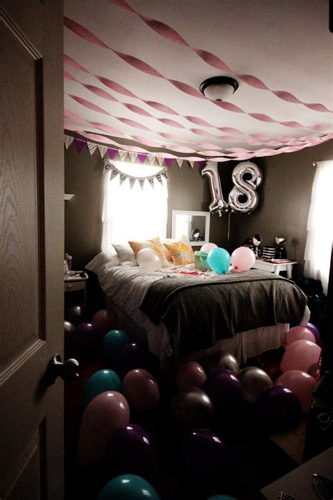 party in your bedroom the 25 best birthday surprise ideas on pinterest