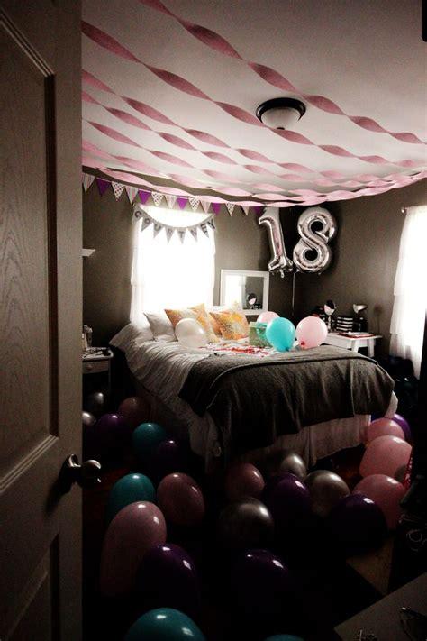 ideas  birthday room surprise  pinterest