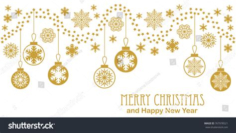 merry and happy new year card template vintage merry happy new year stock vector