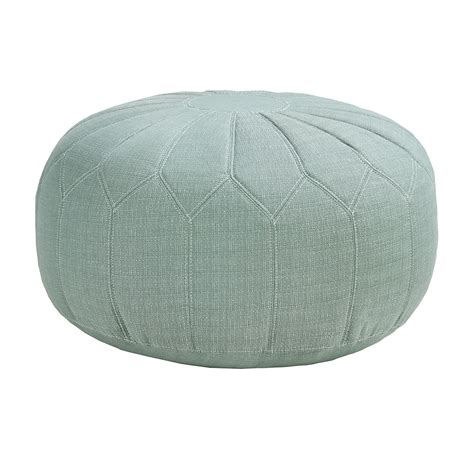 round ottoman pouf madison park kelsey round pouf ottoman ebay