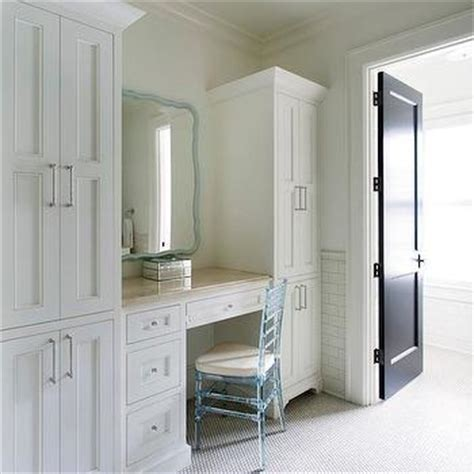 Built In Vanity Dressing Table by Make Up Vanity Transitional Bathroom Hepfer Designs