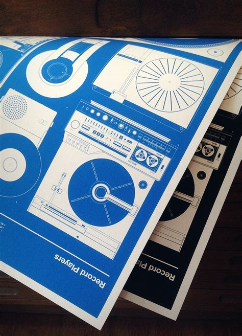 Records Blueprints Record Players Print Blueprint 67 Inc Design Classics
