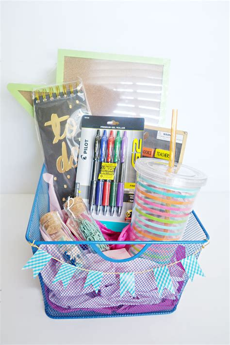 back to school gift with diy back to school gift basket for teachers and