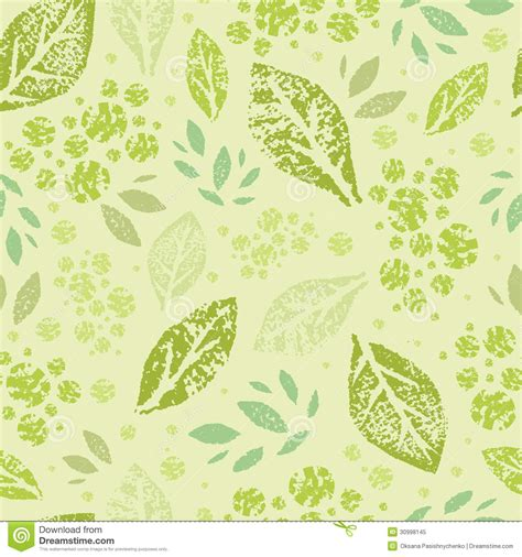 seamless nature pattern vector sted green leaves seamless pattern background royalty
