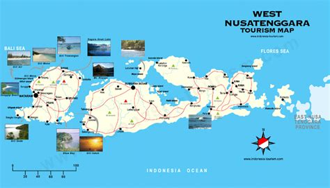 Peta Wisata Provinsi Kepulauan Bangka Belitung Kota Pangkalpinan H1051 peta wisata nusa tenggara barat wisata indonesia timur