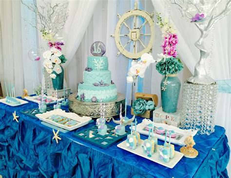 quinceanera themes under the sea under the sea quincea 241 era quot teal waters quot catch my party