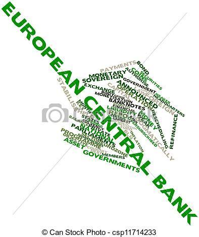 europäische zentral bank stock illustration wort wolke europ 228 ische zentral