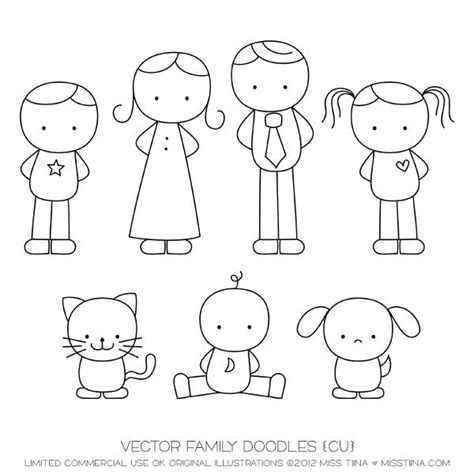 doodle family vector free vector family doodles cu by miss tiina