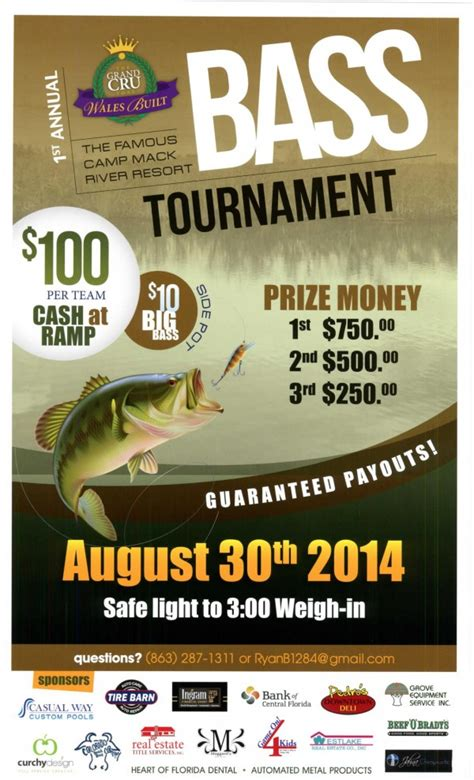 fishing tournament flyer template bass fishing tournament flyer www imgkid the image