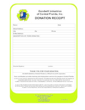goodwill receipt template donation receipt template forms and templates fillable
