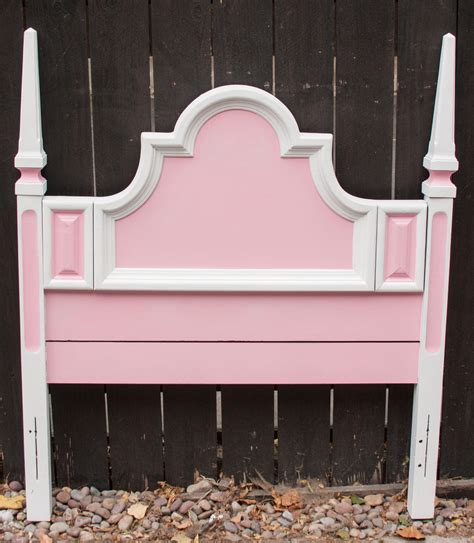 pink twin headboard fancy pink and white twin headboard