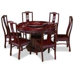Rosewood Dining Room Set 48in Rosewood Flower And Bird Motif Round Dining Table