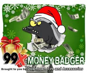 Win Christmas Money - win cash every weekday in november from the 99x money badger