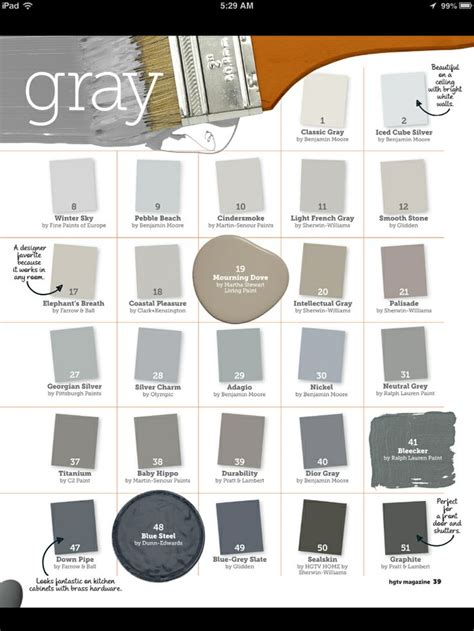 gray paint color gray paint color names