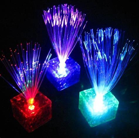 fibre ottiche illuminazione prezzi lade a fibre ottiche da 15 cm con base a cubo