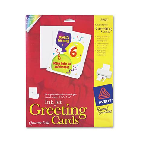 birthday card template epson superwarehouse avery dennison fold cards avery 3266