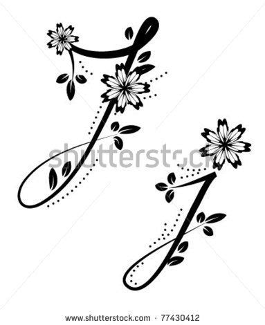 tattoo fonts with flowers 17 best ideas about letter j on j