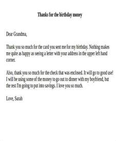 thank you letter for gift of money sle thank you note for money 7 exles in word pdf