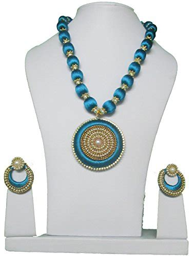 Anting Korea Multicolor Silk Thread Earrings buy mds peacock blue silk thread necklace with side