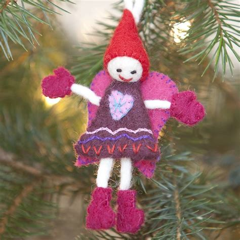 felt christmas tree decorations by marbletree