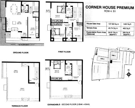 1st floor plan overview growing up in a frank lloyd wright house by kim bixler 1482 sq ft 3 bhk 4t villa for sale in dugar homes growing