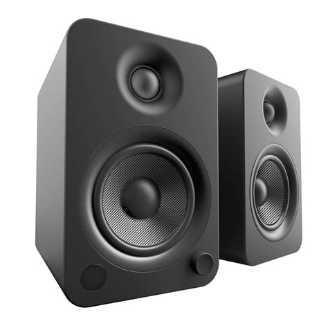 kanto living yu4 2 way powered bookshelf speakers yu4mb b h