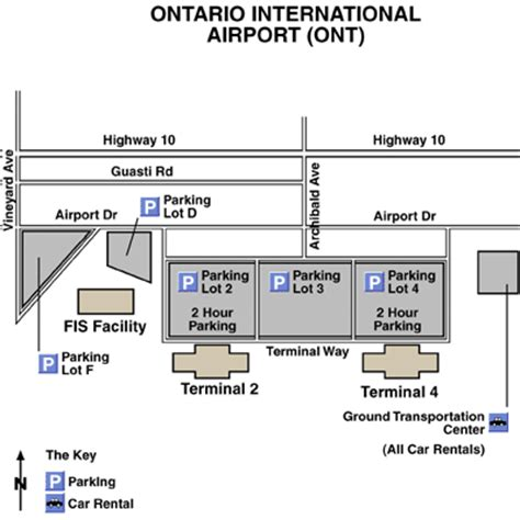 ontario airport california map la ontario international airport airport maps maps and