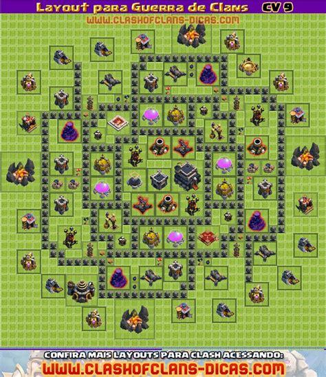 layout guerra cv 4 layouts cv9 para a guerra de clans clash of clans dicas