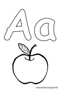 outline of a letter a coloring pages getcoloringpages