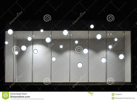 led lights for store windows empty store display window with led light bulbs led l