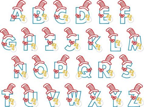 printable alphabet hats cat letters cat in the hat embroidery from bows and