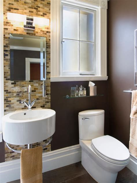 decorating a small bathroom small bathrooms big design hgtv