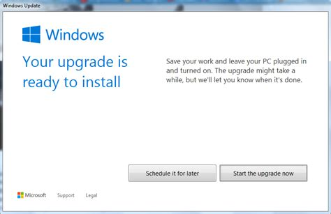 install windows 10 getting ready windows 10 in place upgrade ready to install on gwx