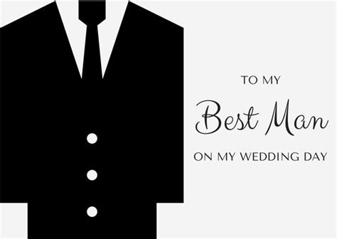 Wedding Thank You Card Wording   Best Man Thanks