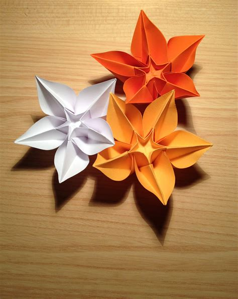 Types Of Origami Flowers - file origami flower carambola jpg wikimedia commons