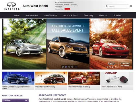 Infinity Auto Homepage by Jeremy Levy Digital Freelancer Ecommerce Marketer