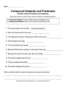 compound subjects predicates instant worksheets