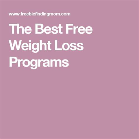 best weight loss program 25 best ideas about free weight loss programs on