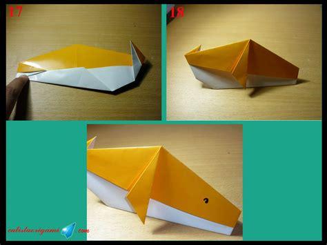 membuat kolase binatang cara membuat origami ikan paus origami binatang