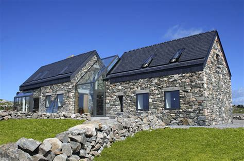 Cottage Plans Ireland by Two Cottages Connected By A Glass Staircase Modern