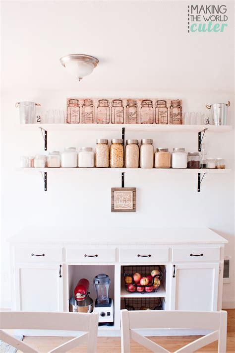 diy open shelving kitchen diy kitchen open shelving