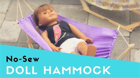 Doll Hammock by How To Make A Hammock For Dolls Like American Bfc