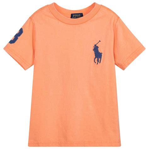 T Shirt Polo Boys 8 polo ralph boys orange big pony t shirt childrensalon