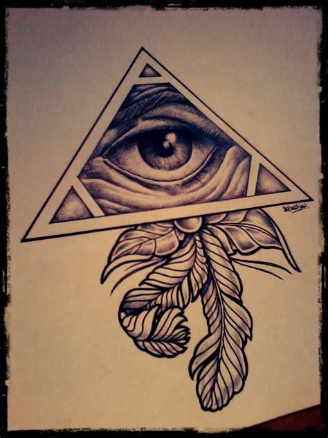 triangle tattoos designs eye of god triangle designs idea