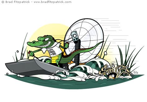 airboat cartoon crocodile boat