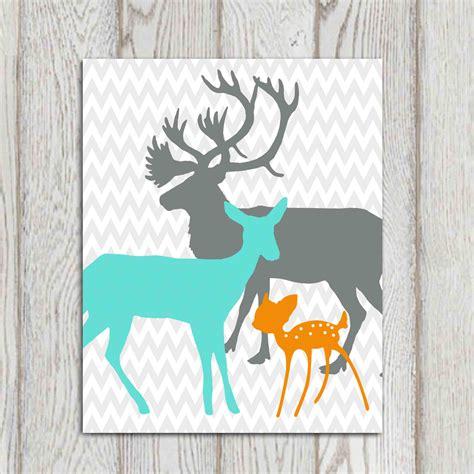 Chevron Wall Sticker nursery decor print orange turquoise gray boys girls bedroom